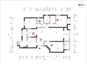 龙湖香醍二期 150平米 新中式风格 户型图设计分析点评介绍