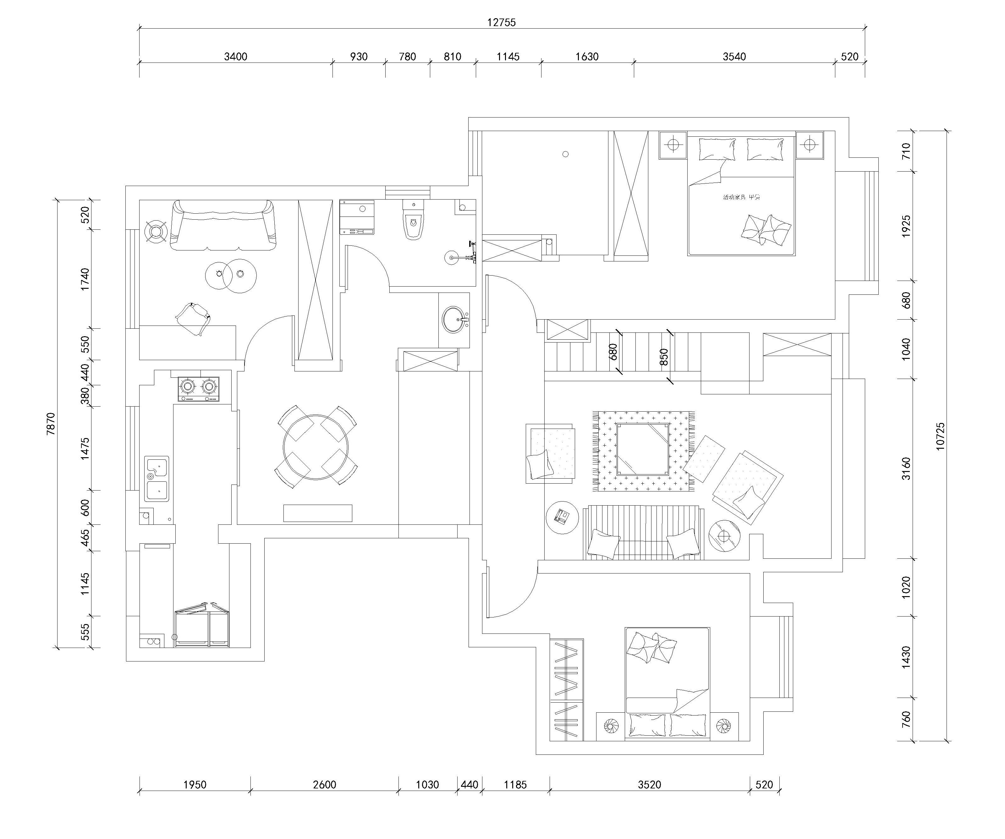 红星国际-130平米-简约装修设计理念