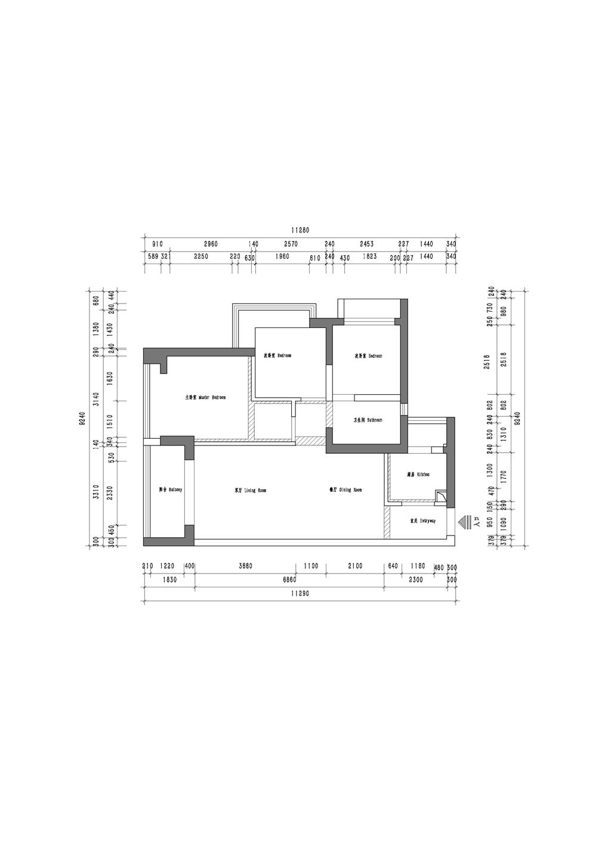 前海东岸 简约风格装修效果图 88平米装修设计理念
