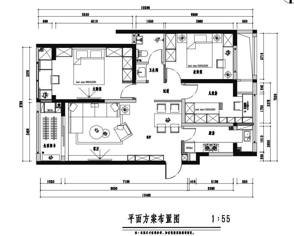 佛山·颐安灝景湾120㎡现代风装修效果图装修设计理念