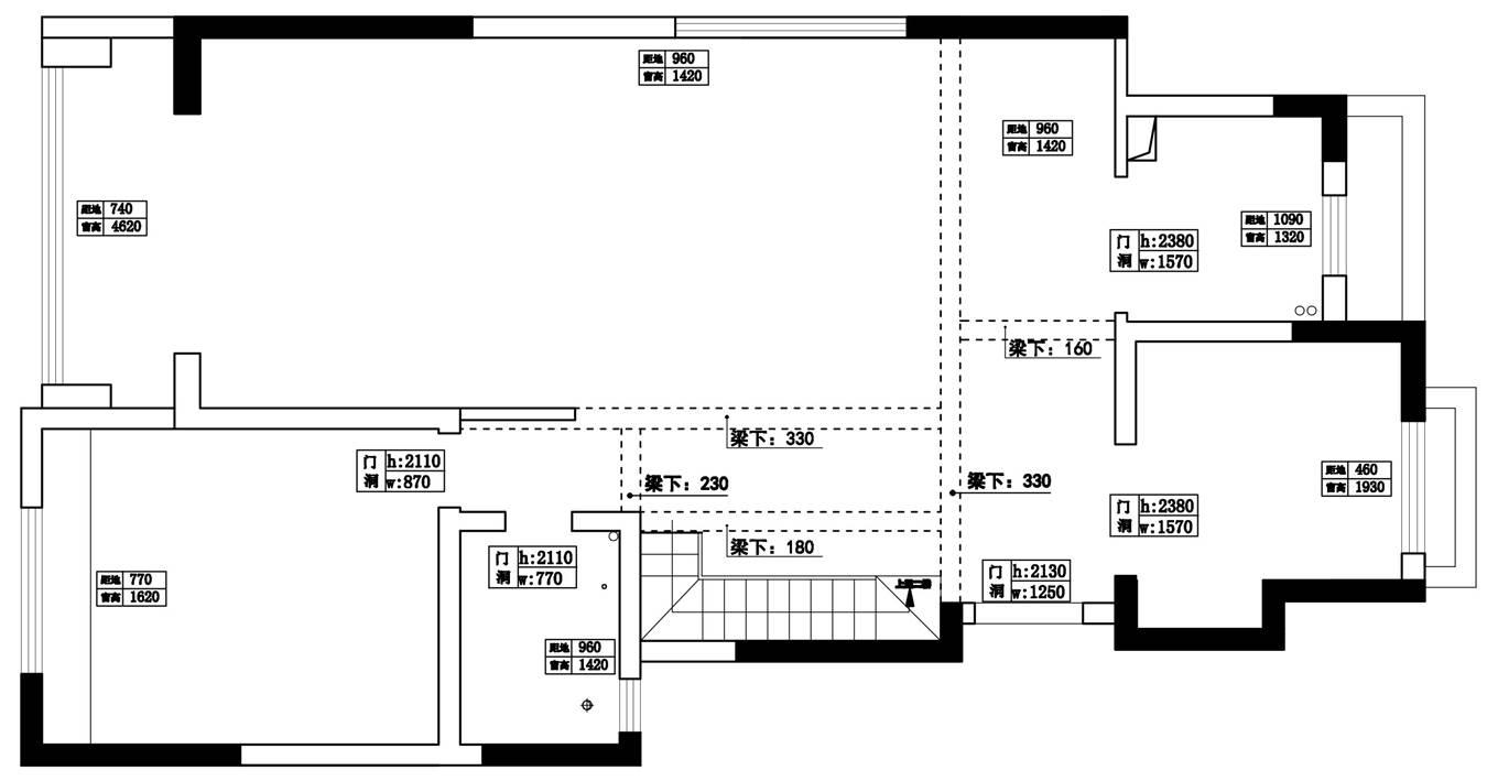 龙湖上第现代新奢华风格220㎡复式装修设计理念
