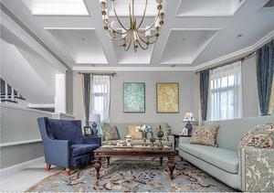 别墅大宅装修设计案例欣赏: 瓦尔登湖畔的美式生活