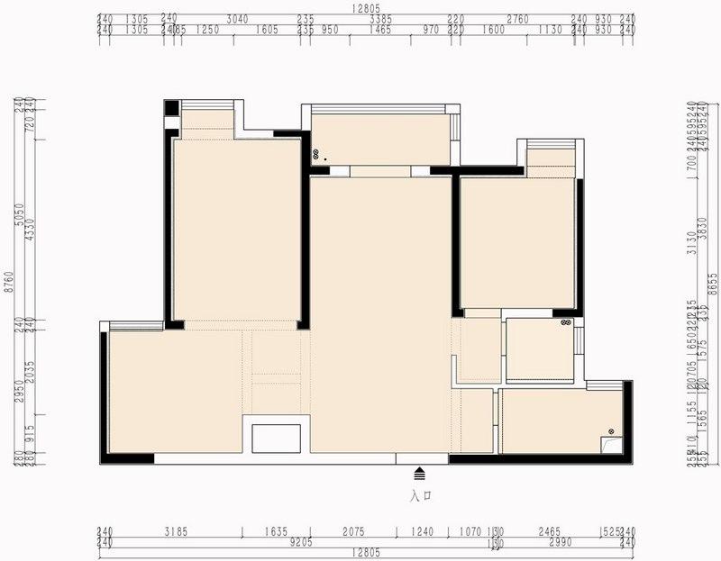 香榭东沙103平米现代美式装修效果图