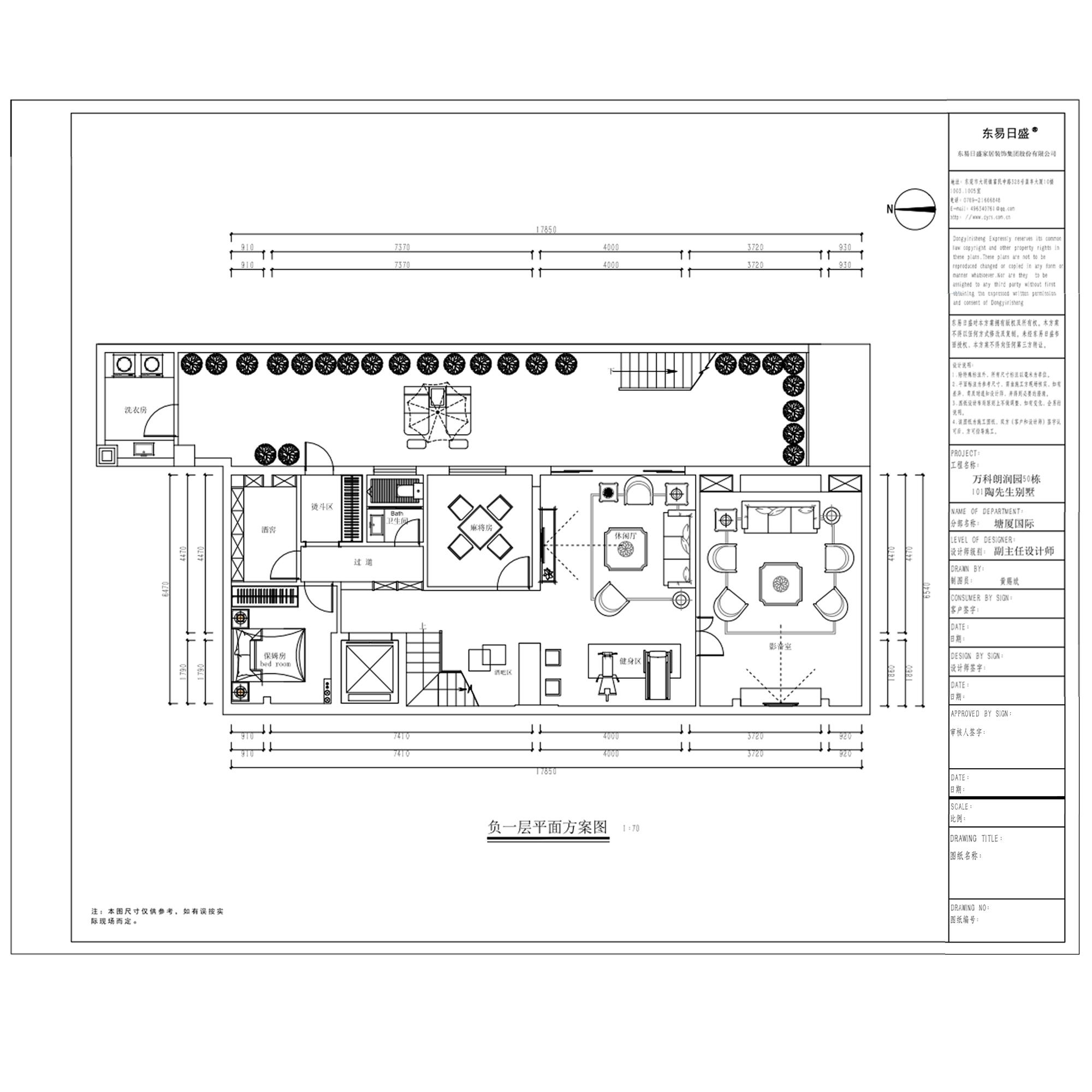 塘厦万科朗润园装修效果图-760㎡简约美式别墅装修案例装修设计理念
