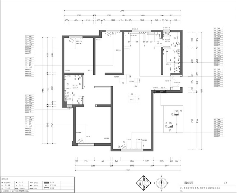 国熙台 现代简约风格装修效果图 三室两厅 140平米装修设计理念