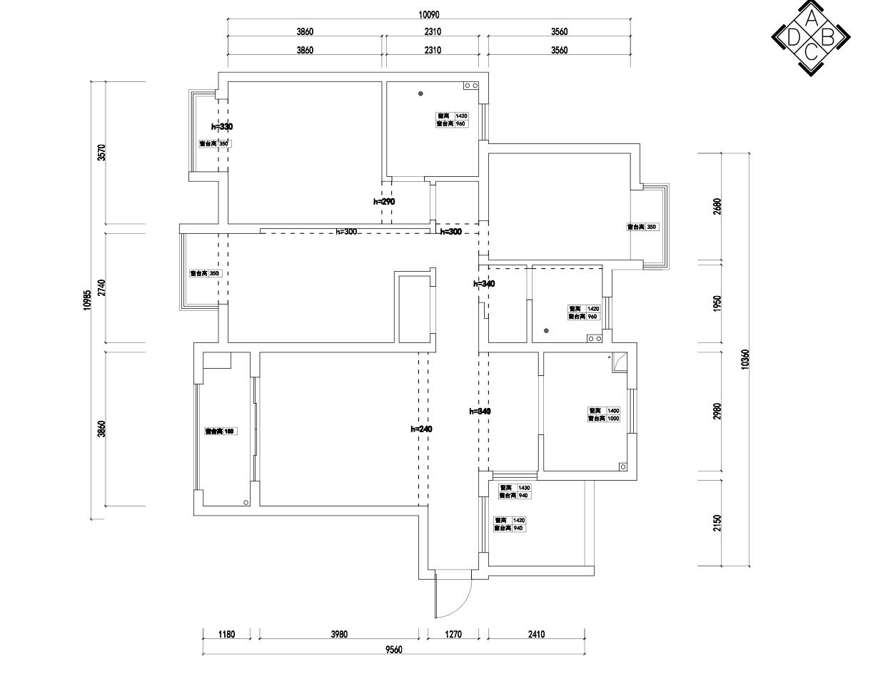 熊猫汇智家园130㎡休闲美式风装修设计理念