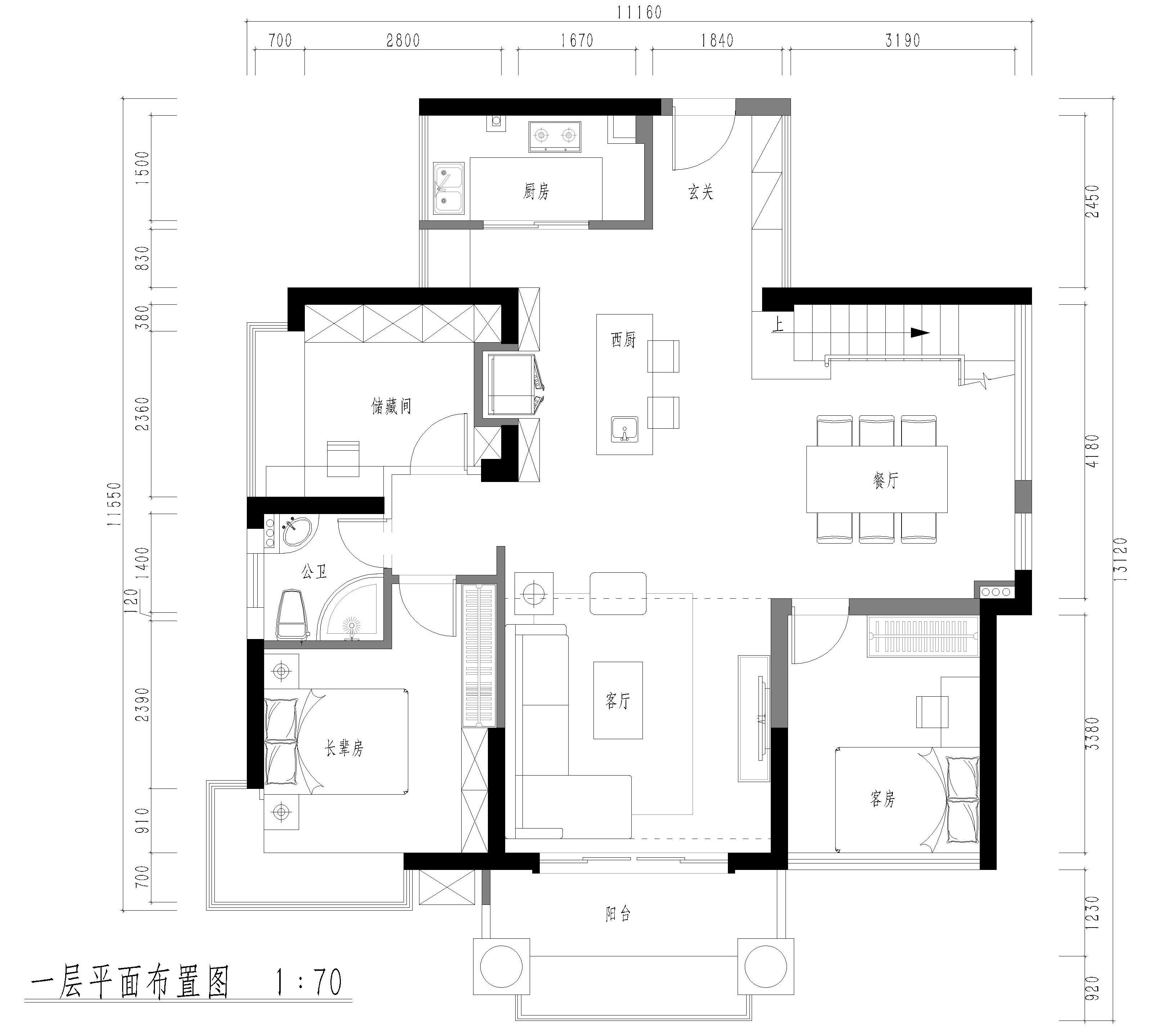 道滘碧琴湾花园装修案例-232㎡现代简约复式装修效果图装修设计理念