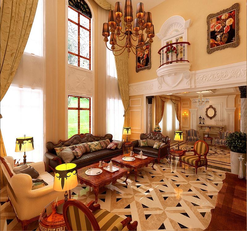 天骄御峰-500㎡-欧式古典-别墅-大厅(图1)