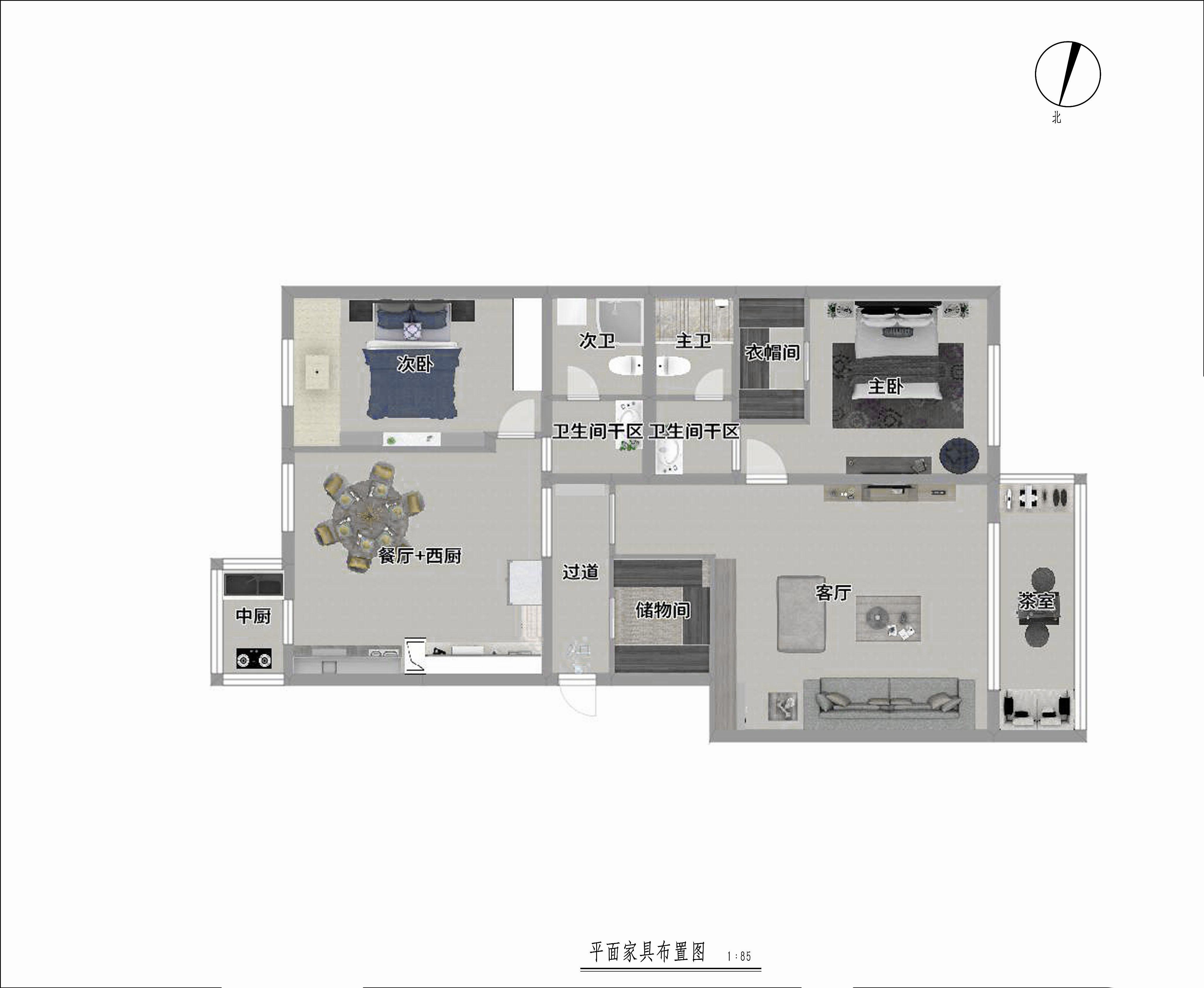 天通西苑-129.71平米-法式风格装修设计理念