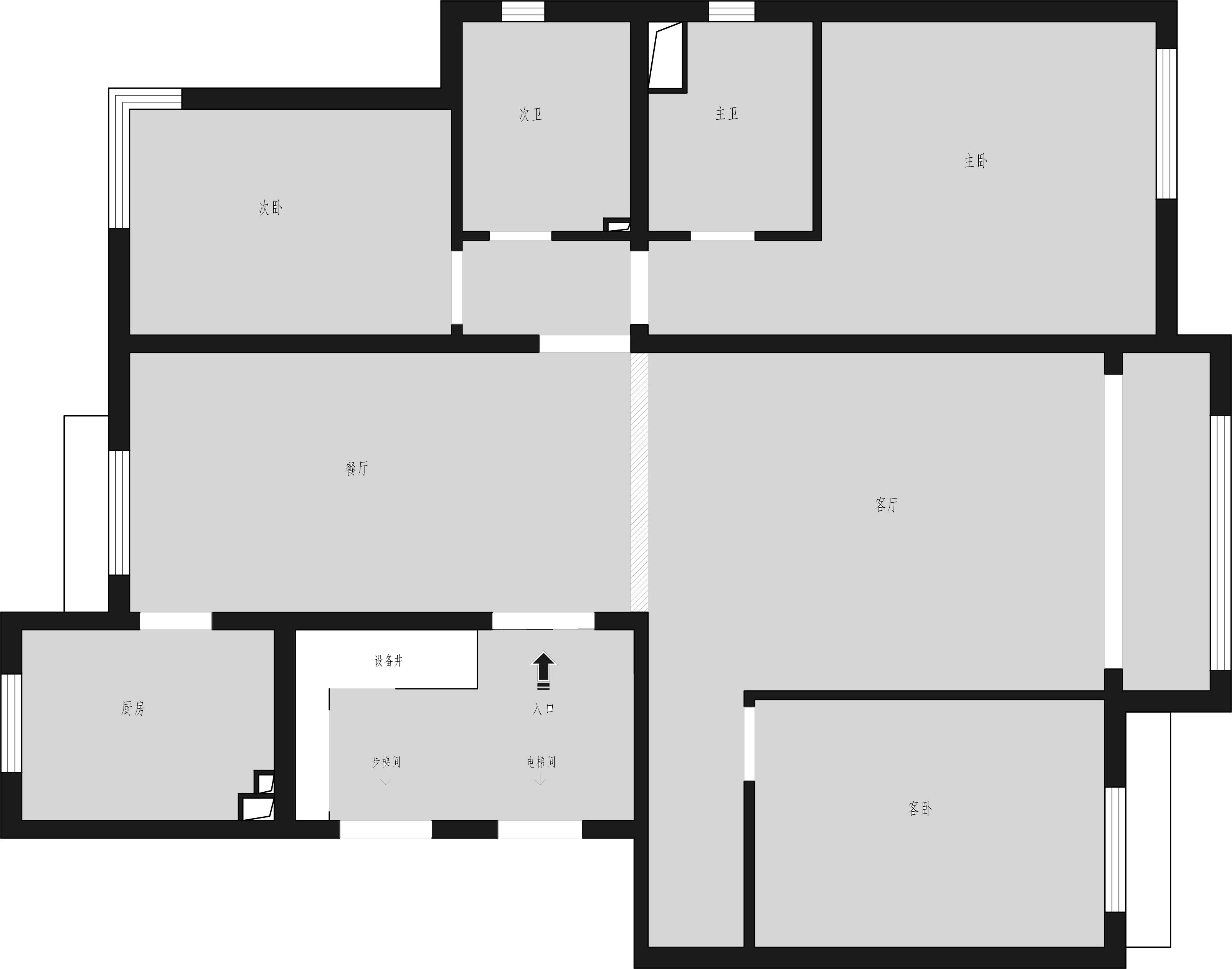 领秀慧谷-100平米-北欧风格装修设计理念
