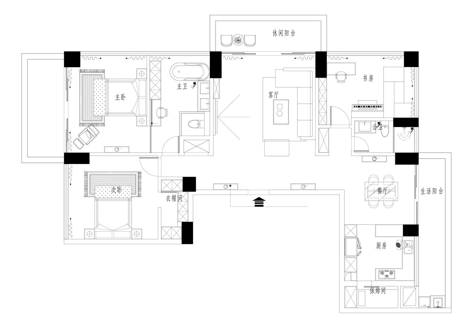 红树西岸-188平米装修-简美风格装修效果图案例装修设计理念