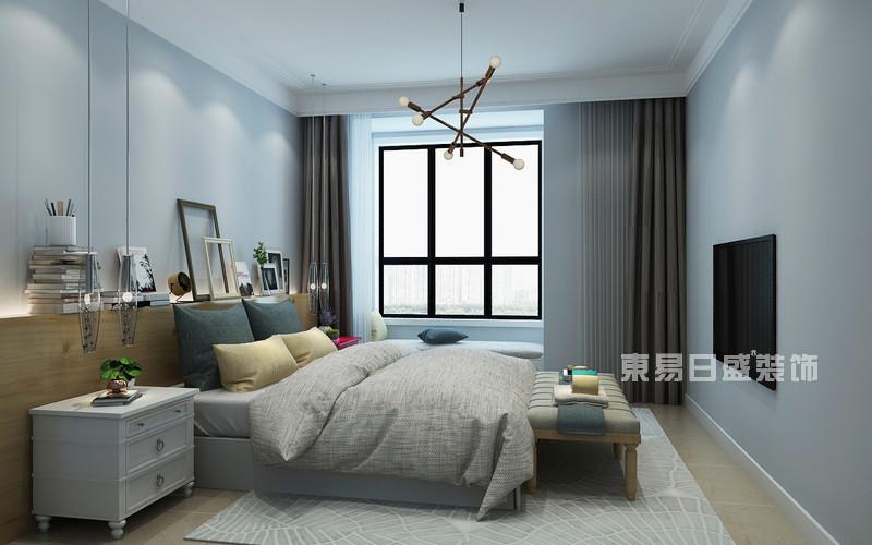 85平米北欧风格装修案例_主卧室