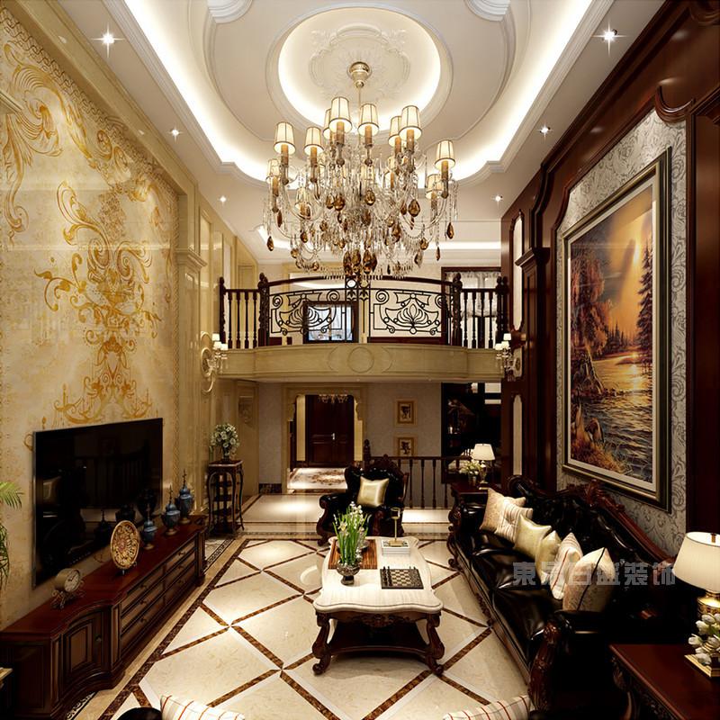 六位设计师豪华欧式客厅吊顶装修效果图案例