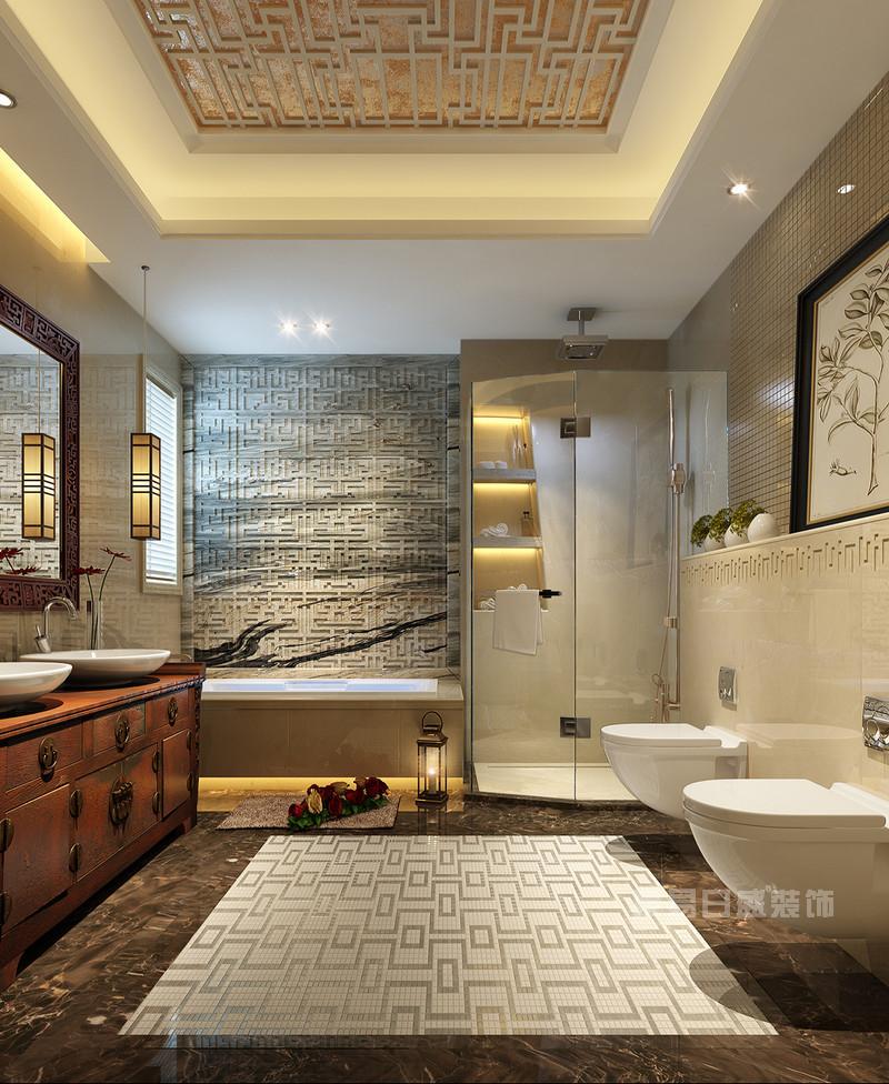 8套卫生间装修效果图欣赏-现代简约/中式/美式风格