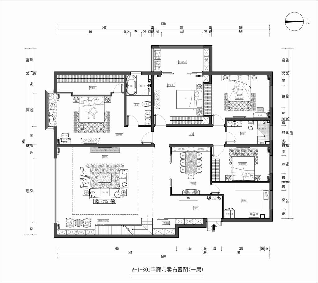 华宇时代新区801-现代简约装修风格-420平米装修设计理念