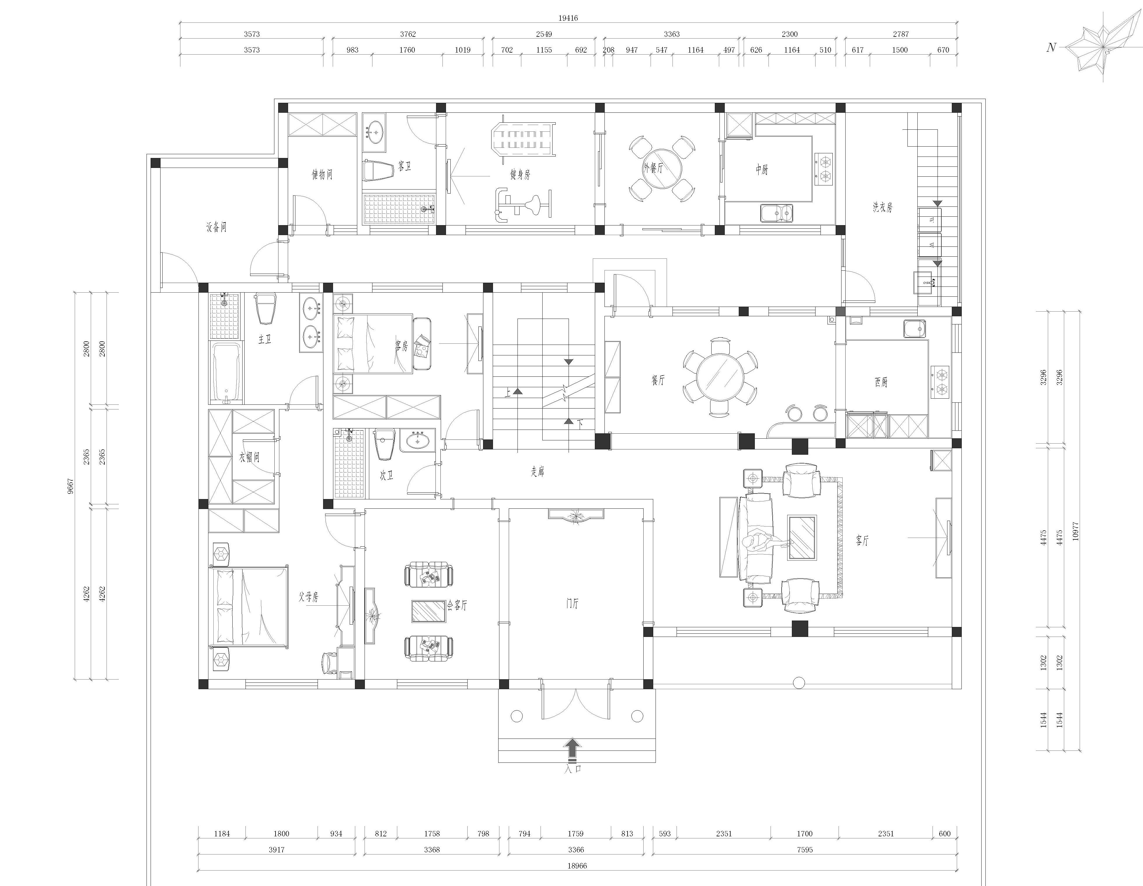 南山花园简欧500㎡装修设计理念