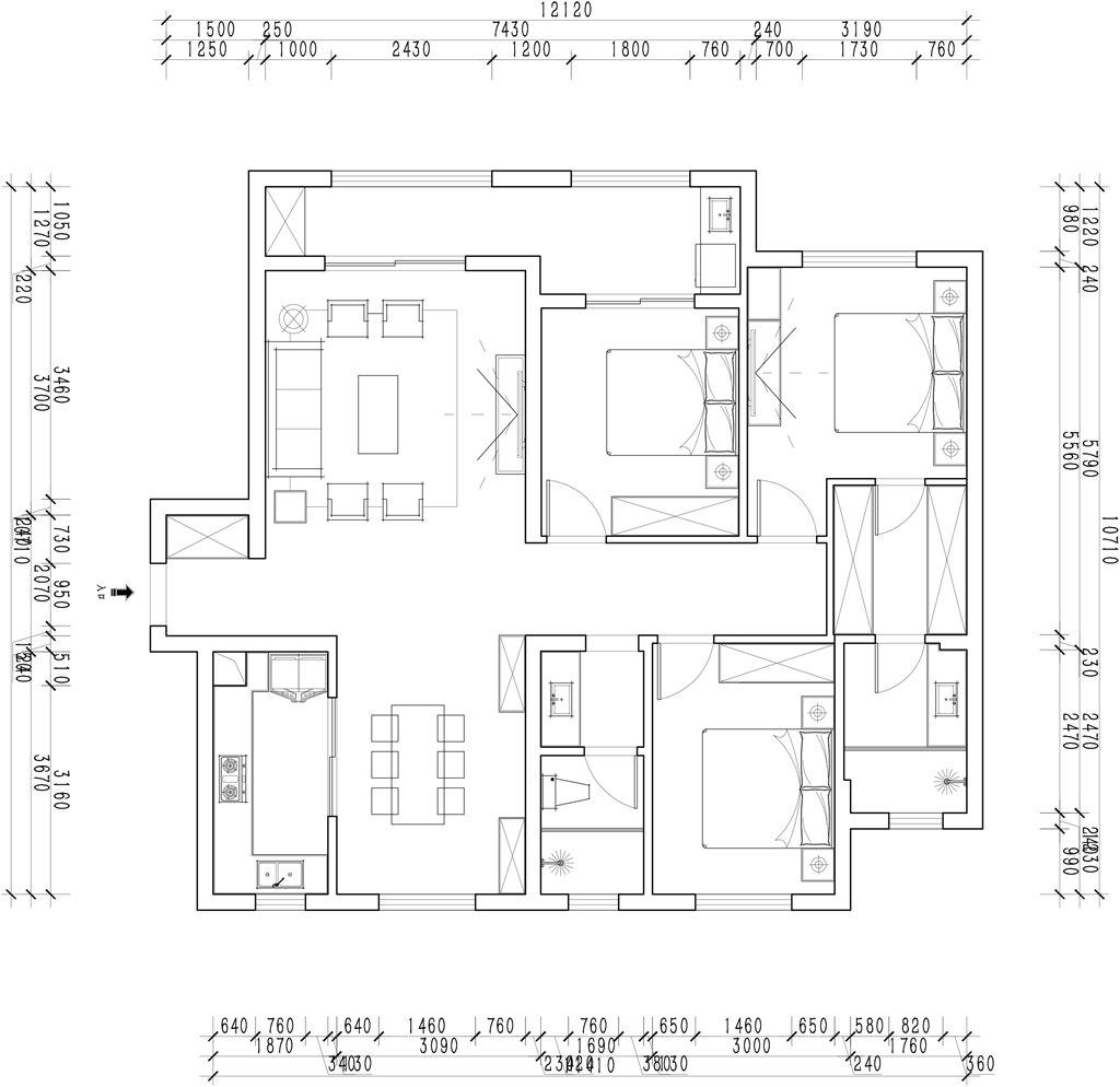 复地东湖国际132平米现代欧式装修效果图装修设计理念