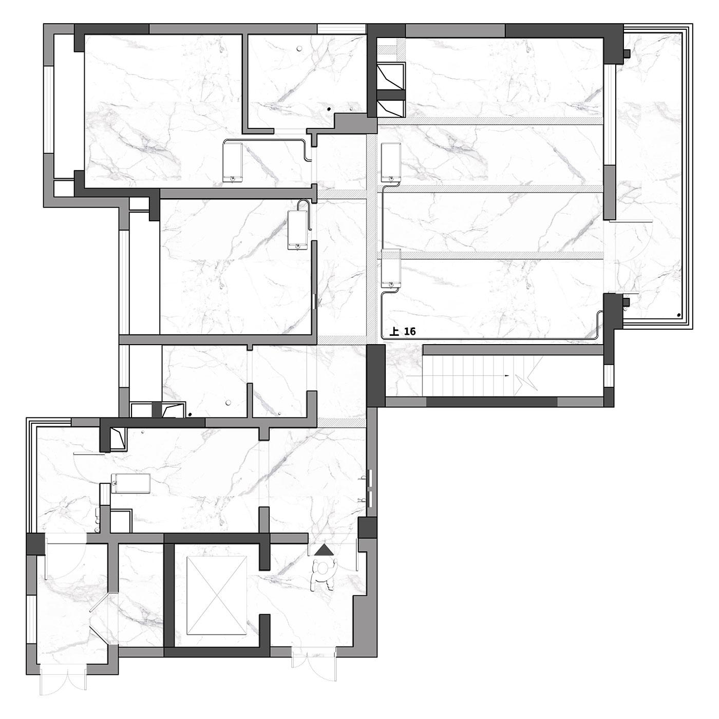 现代风格装修效果图丨南门绿郡161㎡跃层三居装修案例装修设计理念