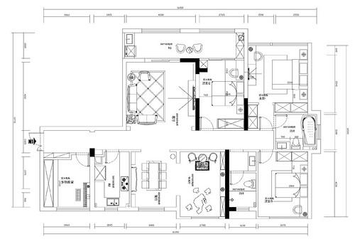 复地东湖新古典风格装修效果图装修设计理念