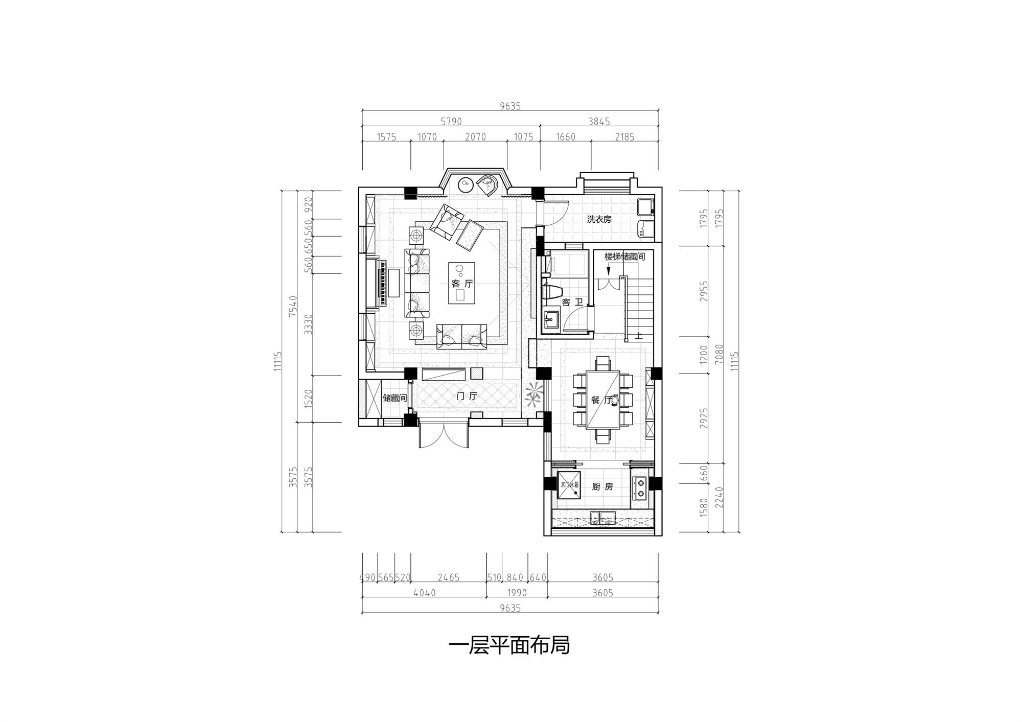 云龙轩280㎡北美风格装修设计理念