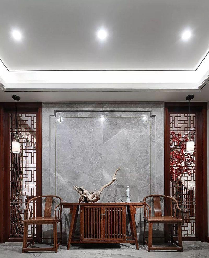 中国院子独栋别墅装修实景案例-玄关