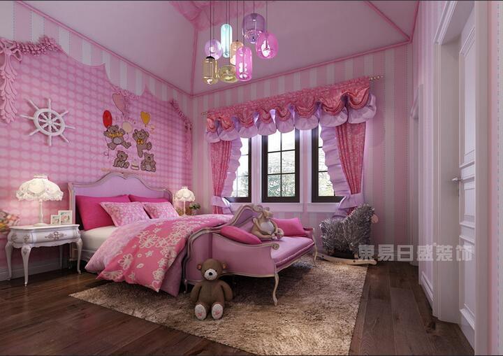 欧式儿童公主房间装修效果图