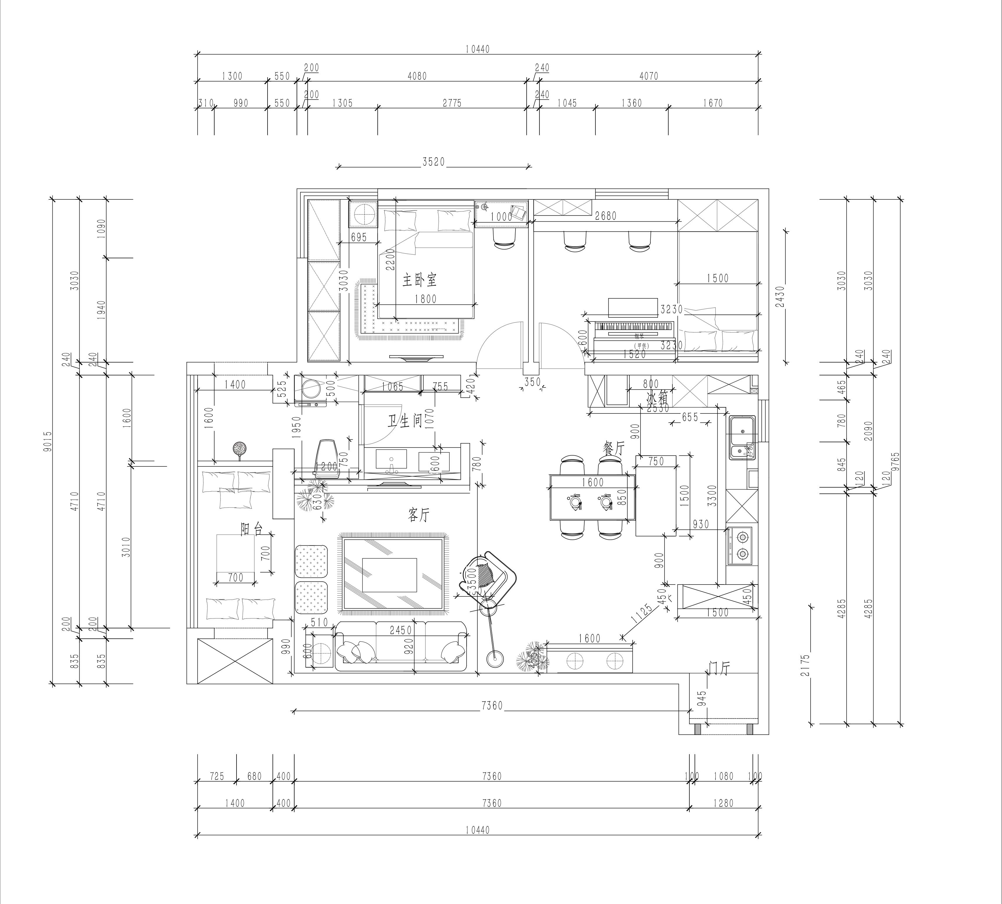 金泉家园-现代风格-115平米装修设计理念