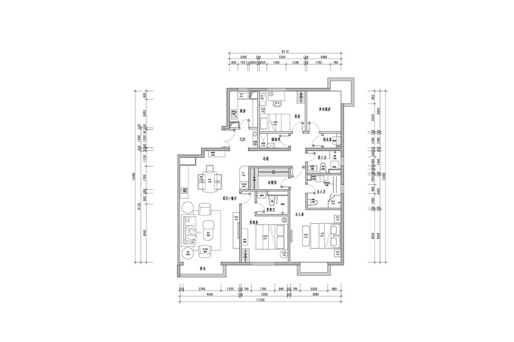 中海·紫御公馆-简约美式-150㎡装修设计理念