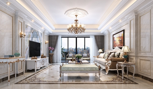 那么在客厅装修设计中,客厅电视背景墙如何装饰设计更能为客厅增添艳
