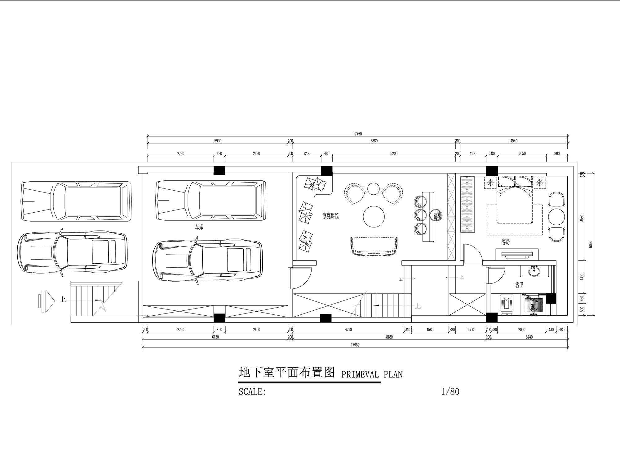 昆明安宁众和东苑联排别墅 380平米美式设计风格效果图装修设计理念