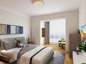家居装饰中寝室的床怎样摆放比拟适宜?