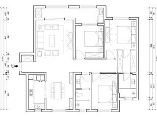复地东湖国际-130平米-中式风格-三室两厅一厨两卫