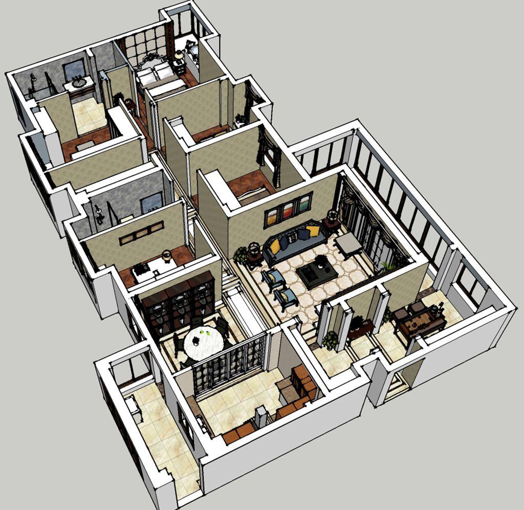 香榭东沙新中式238平米装修效果图装修设计理念