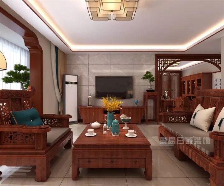 东易日盛装修案例:160㎡新中式静享生活恬淡之美