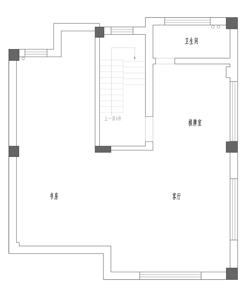 林泉山庄中式风格300㎡装修设计理念