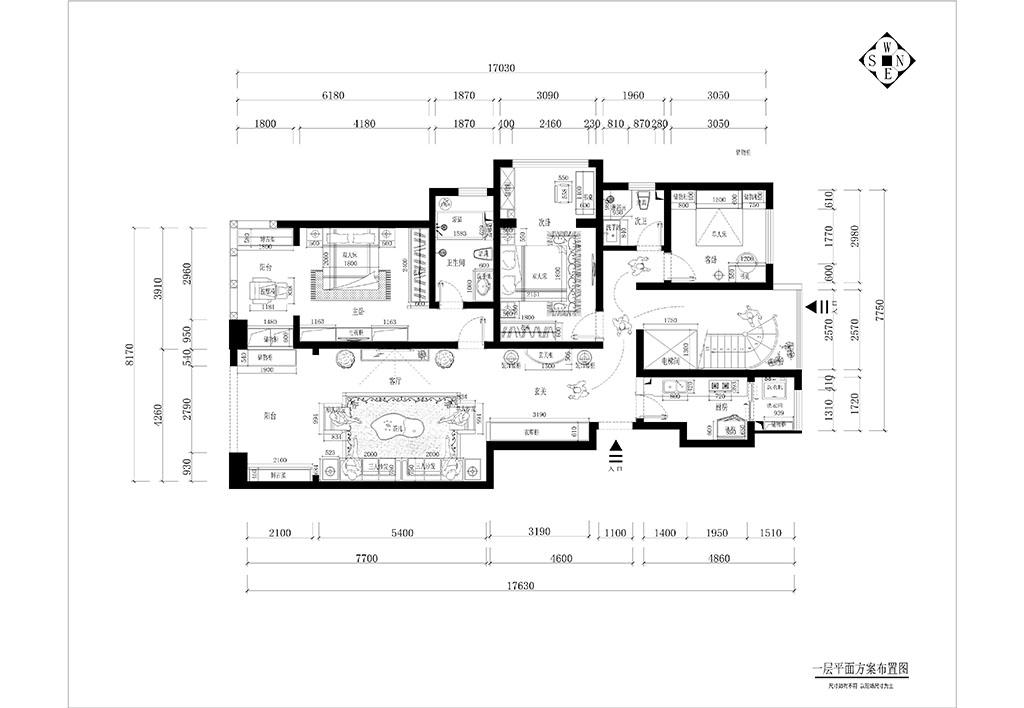 林隐天下 新中式装修效果图 平层 130平米装修设计理念