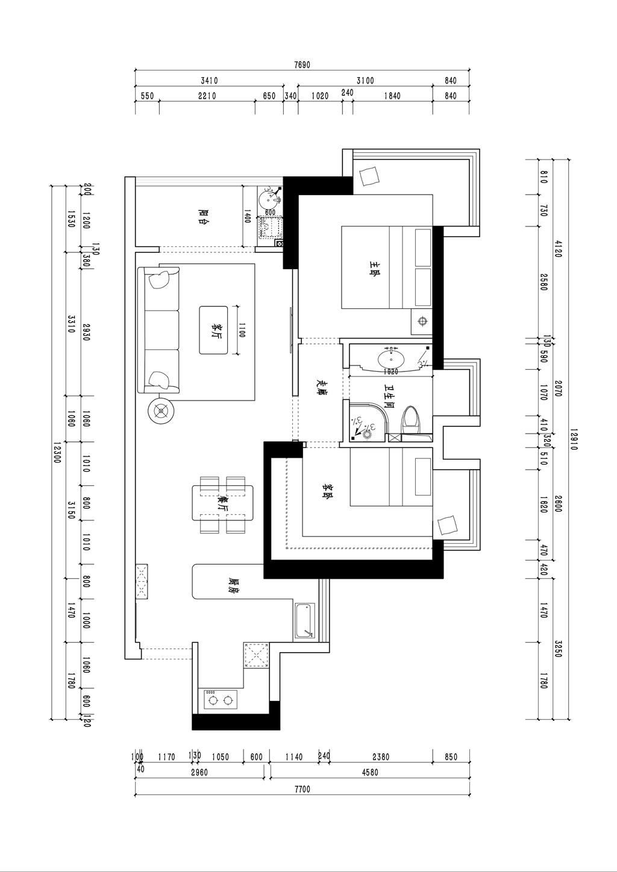 首地容御70平米-北欧装修设计理念