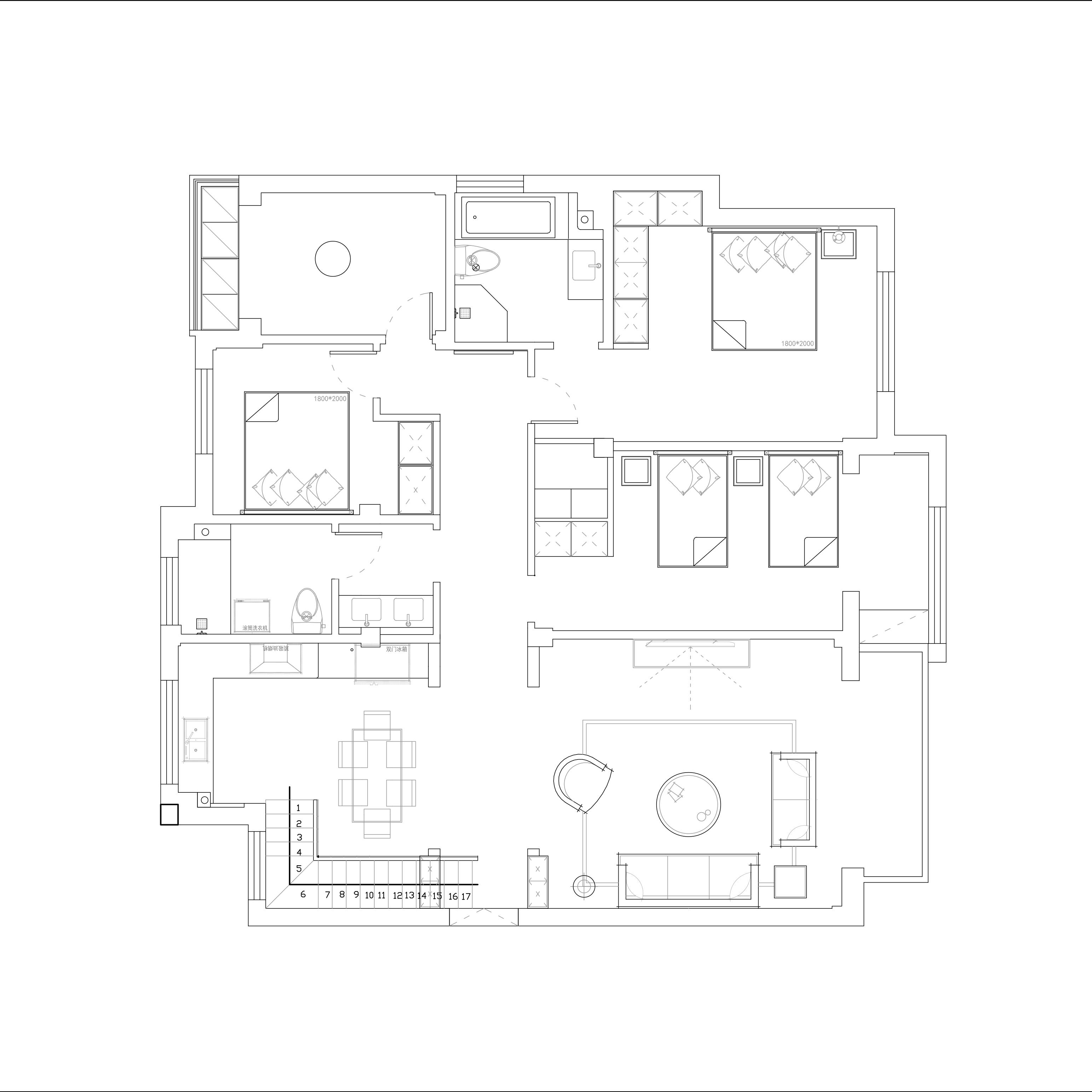 卡纳意乡-美式乡村-288平装潢策划愿景