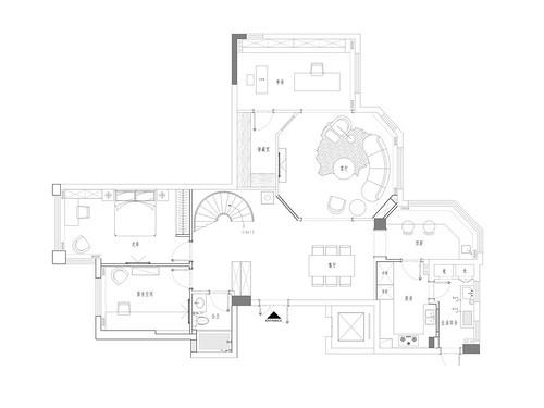 尚品半岛194平法式轻奢装修设计效果图装修设计理念