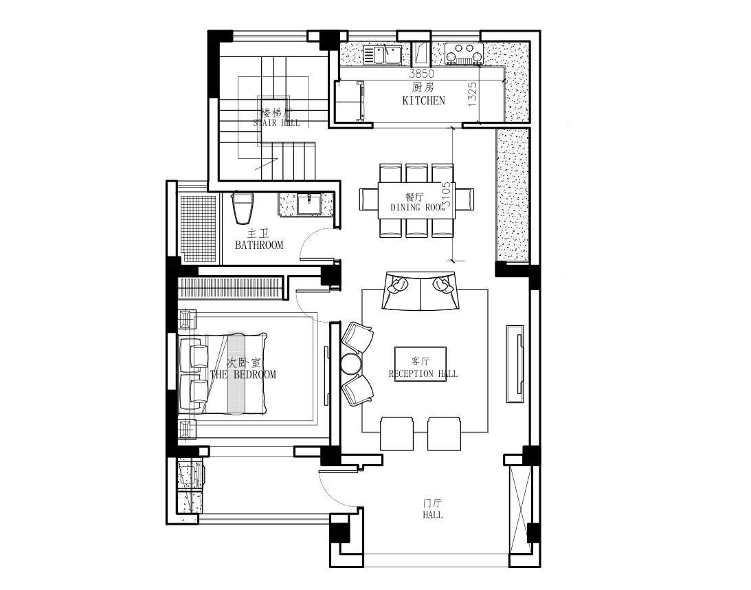 东方新卡纳160平复式现代美式风格装修效果装修设计理念