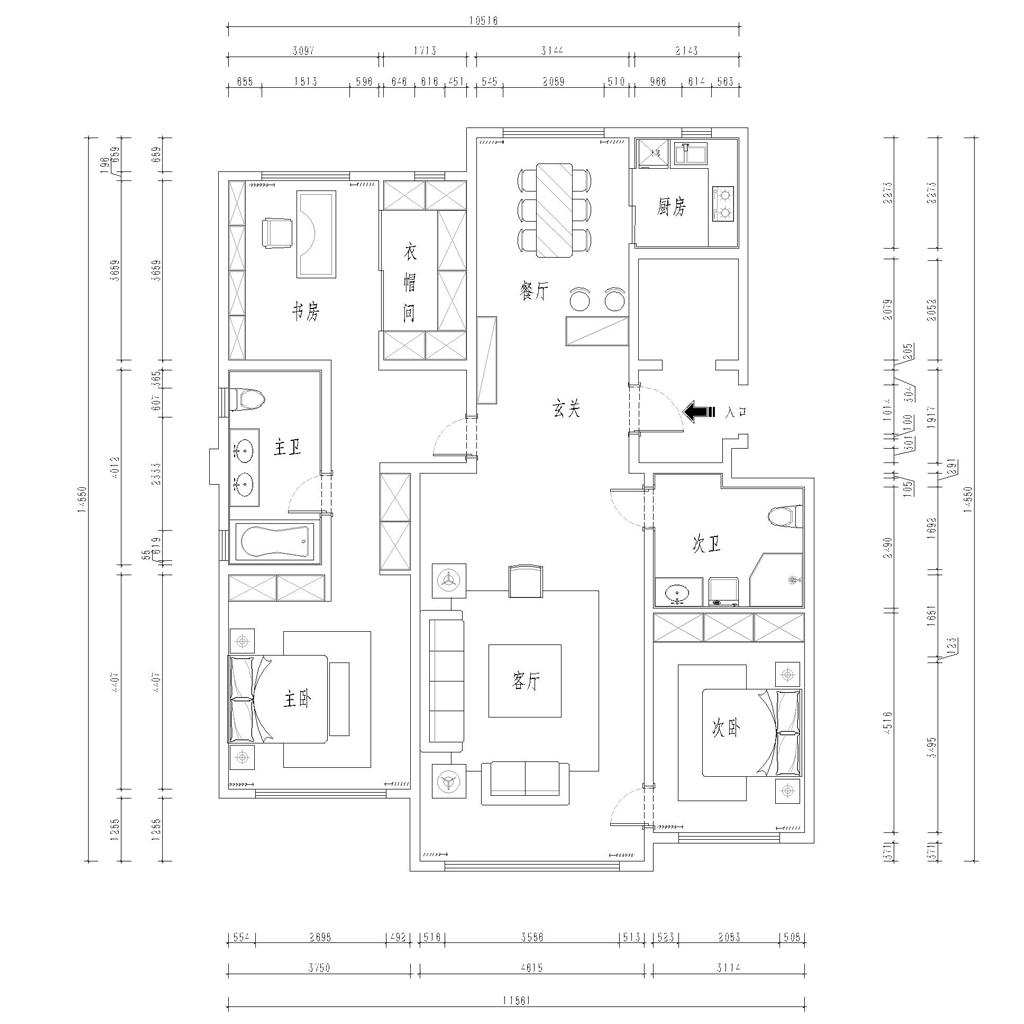 青云天下-新古典-177平装修设计理念