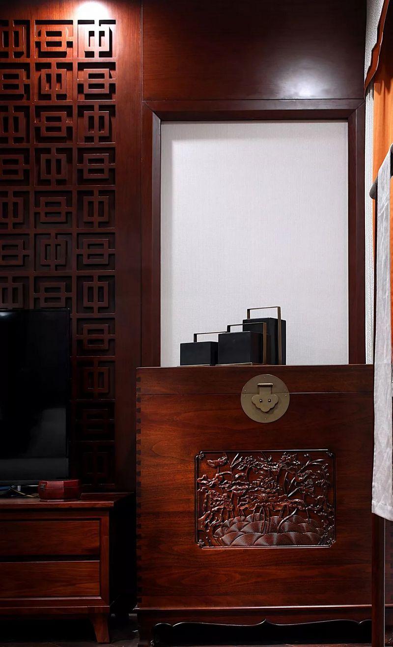 中国院子独栋别墅装修实景案例-卧室