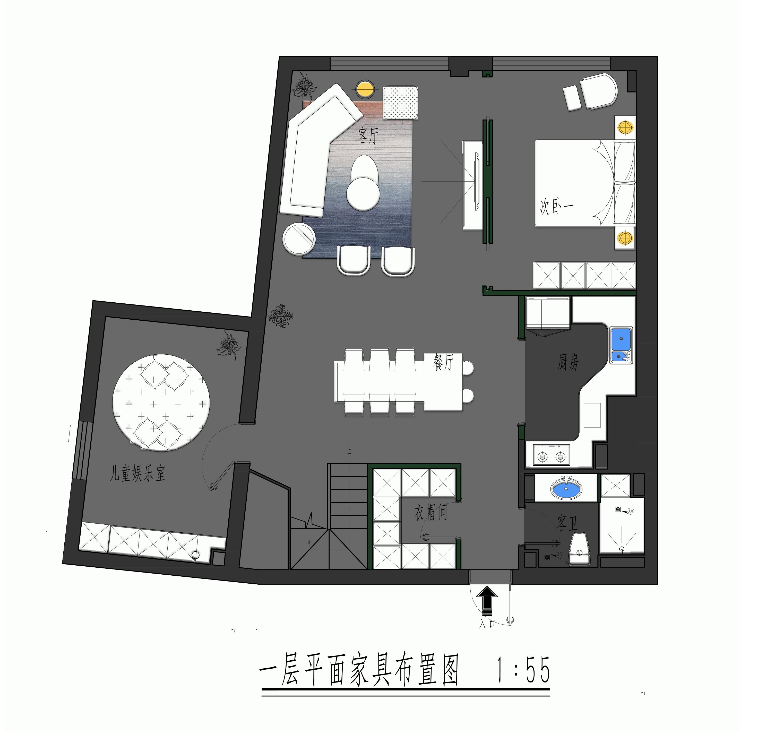 苹果社区-165平米-现代-装修效果图装修设计理念