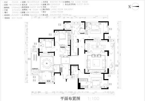 华侨城现代简约290㎡装修效果图装修设计理念
