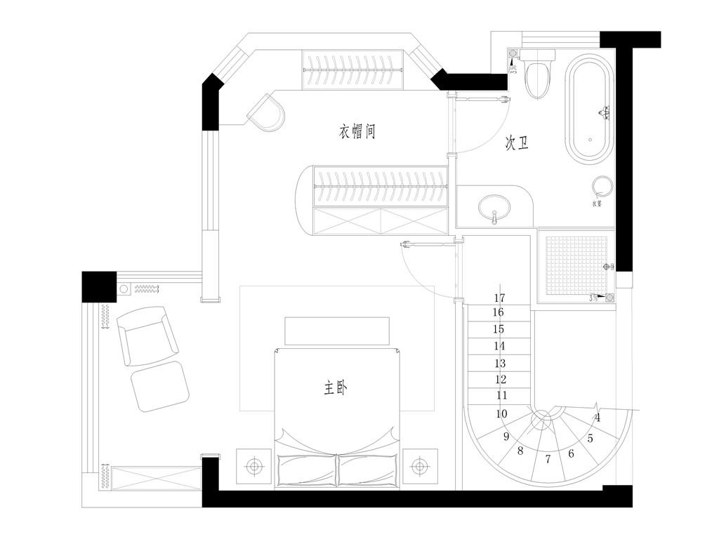 尚品半岛183平跃层现代装修设计效果图装修设计理念