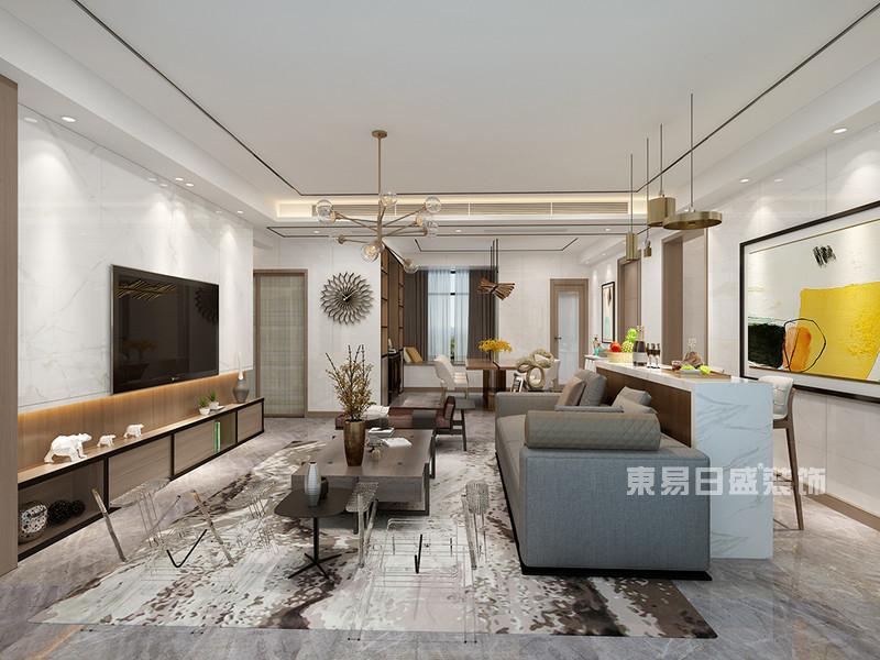 190平米客厅装修效果图-东易日盛装饰