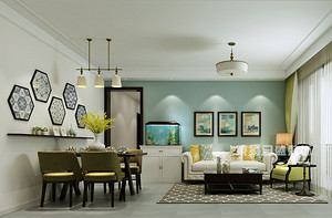 90平米房屋装修效果图,干净素雅的居住空间!