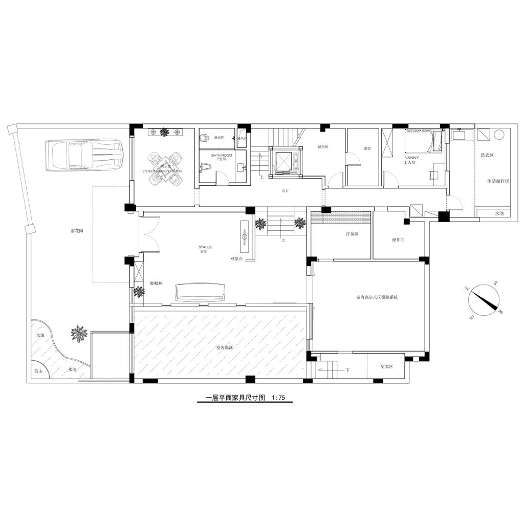 泊岸森邻别墅550平米新中式风格装修设计装修设计理念