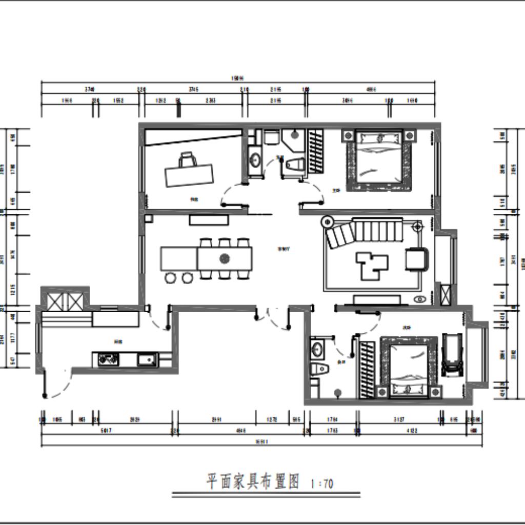 亚林西 110㎡ 现代装修设计理念