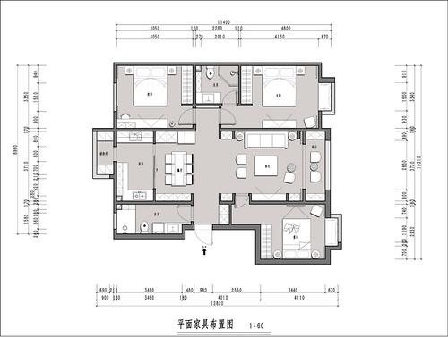 东一时区-105平米-新中式风格装修设计理念
